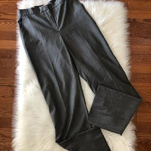 MaxMara Gray Trousers Pants Straight Leg Size 8